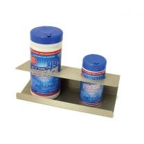 """Stainless steel disinfectant and probe wipe holder: 350 x 140 x 115 mm (13.77 x 5.51 x 4.52"""")"""